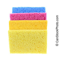 Sponges Super Absorbent Stacked - Four colorful super...