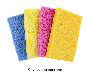 Sponges Super Absorbent - A group of four super absorbent...