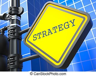 Business Concept. Strategy Waymark. - Business Concept....