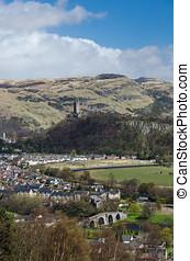 Landscape of Stirling, Scotland - Landscape with the Old...