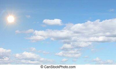 Clouds, sky,sun.