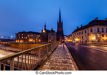 Riddarholmskyrkan Church in Stockholm Old Town (Gamla Stan)...