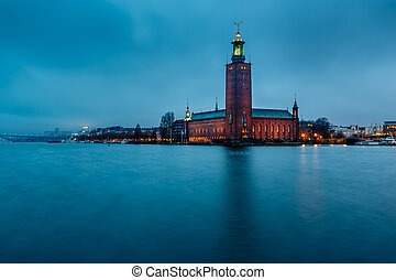 Stockholm Cityhall Located on Kungsholmen Island in the...