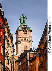 Cathedral of Saint Nicholas (Storkyrkan) Bell Tower,...