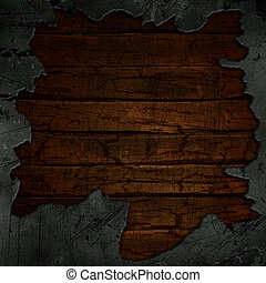 Cracked concrete and wood background