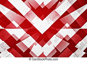 Graphic Quilted Flag Pledge of Allegiance - a quilt of an...