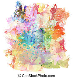 Watercolour background - Abstract background with...