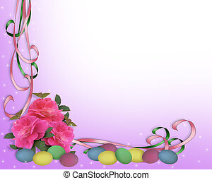 Easter border corner design - Image and illustration...