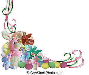 Easter Bunny Border - Image and illustration composition...