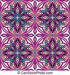 Art nouveau tile - Seamless artistic vector pattern with...