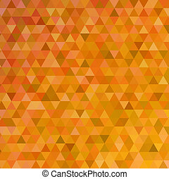 Orange triangles abstract background - Abstract vector...