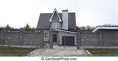 beautiful two-storey stone house