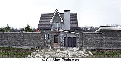 beautiful two-storey stone house