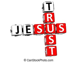 3D Trust Jesus Crossword