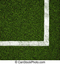 Green grass - Soccer field grass on the green corner made in...