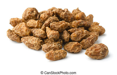 Chufa - Pile of chufa tigernuts isolated on white