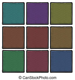 Blank leather labels - The set of colorful blank leather...
