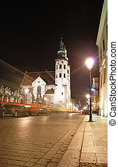 Cracow - Saint Andrew Church at night - Cracow,Poland