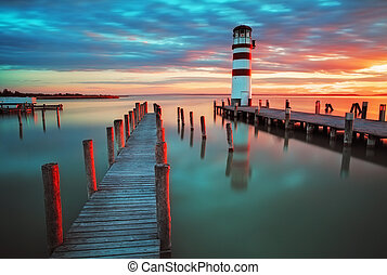 Lighthouse at Lake Neusiedl - Austria - Lighthouse at Lake...