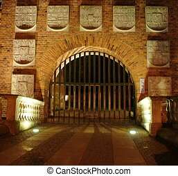 Cracow - Gate to Wawel Royal Castle - Krakow Cracow, Poland...