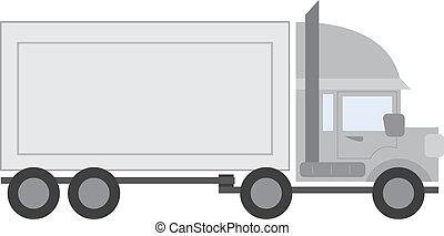 Truck Full - Large full truck tractor trailer