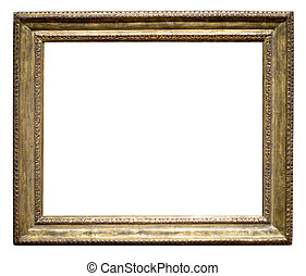 Old Picture Frame - An old antique gold leaf picture frame...