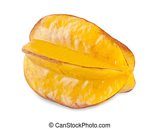 Carambola on the white - Carambola or starfruit on white...