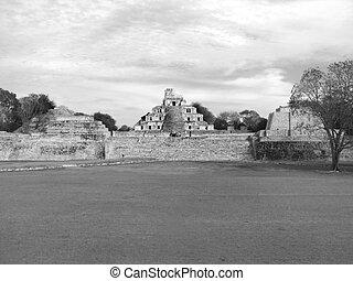 edzna, Maya, Ruinas
