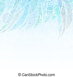 Abstract light blue floral background - Light blue abstract...