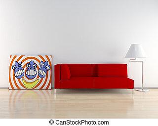 Sofà with paint