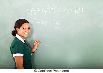 young middle school doing mathematics - happy young middle...