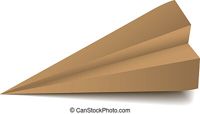 Vector origami airplane - folded model