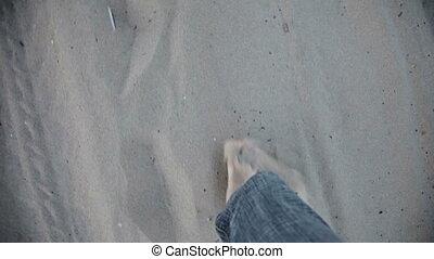 Man Running in sand