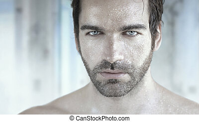 Beautiful man - Highly detailed portrait of good looking man...