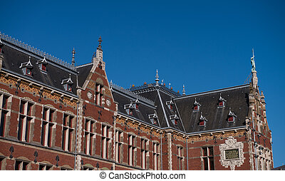 Amsterdam. Central Station architecture