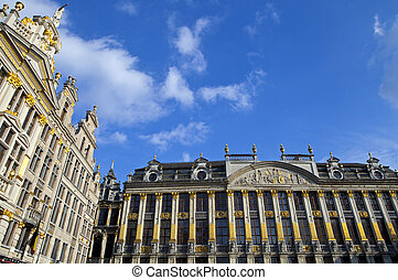 Historic Buildings on Grand Place in Brussels - Some of the...