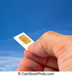Smart card in human hand