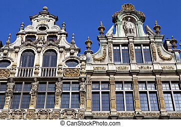 Guildhalls on Grand Place in Brussels