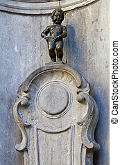 The famous Manneken Pis in Brussels, Belgium.