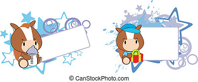 horse baby cartoon copyspace