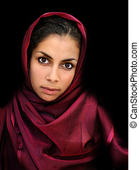 Arab girl - A portrait of a young arab woman