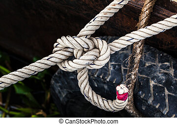 Mooring - Close up of mooring cord