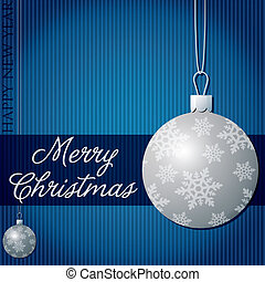 Merry Christmas! - Merry Christmas snow bauble card in...