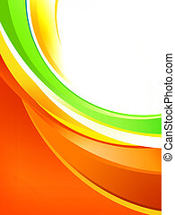 Dynamic colored stripes on a white background - A Dynamic...