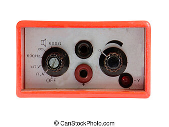 old electronic audio control knob - Meter for measurement of...