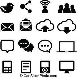 Social Media Icons - Set of social media icons isolated on a...