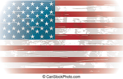 flag day background, united states. vector illustration