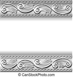 of the background frame with a white paper ornament