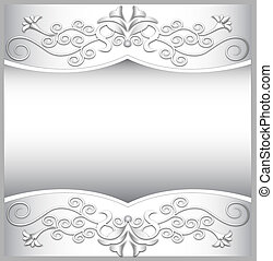 of the background frame with white spiral ornaments