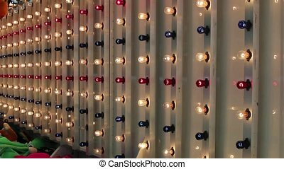 Colorful Carnival Lights Blinking - Red White and Blue...